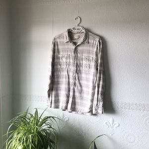 Aritzia 100% Cotton Striped Button Front Shirt